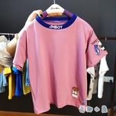 男童T恤純棉中童夏季短袖小男孩上衣夏款半袖體恤【奇趣小屋】