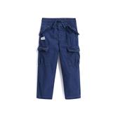 Gap男幼童 舒適抽繩鬆緊腰工裝長褲496088-青色
