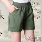 高腰棉麻短褲女夏外穿亞麻寬鬆顯瘦五分熱褲夏大碼薄款闊腿褲休閒