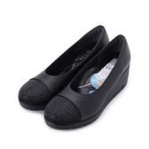 FIRST CONTACT 亮鑽拼接楔形鞋 黑 39606 女鞋 鞋全家福