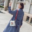 【限時下殺79折】風衣女中長版正韓早秋外套