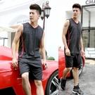 無袖運動套裝夏季跑步衣服男訓練裝備寬鬆大碼速干透氣背心籃球服 布衣潮人