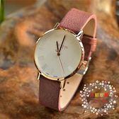 流行女錶手錶簡約磨砂皮質帶時尚防水男錶韓版學生復古女錶 XW全館免運
