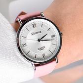 【 魔鬼藏在細節 】羅馬格紋麂皮手錶[W277]