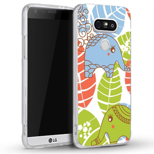 ♥ 俏魔女美人館 ♥ {大象葉子*立體浮雕水晶硬殼} LG G5 手機殼 手機套 保護套 保護殼