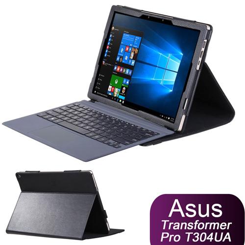 ◆免運費加贈電容筆◆華碩 ASUS Transformer Pro T304UA 專用可裝鍵盤直接斜立皮套 保護套