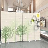歐式屏風隔斷客廳時尚簡約現代布藝玄關臥室房間簡易折疊移動折屏 海港城