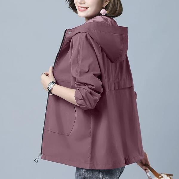 初秋短款風衣棒球服女2121春秋新款韓版寬鬆大碼媽媽裝夾克薄外套 3C數位百貨