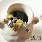 『時空間』925銀針自我個性菱格紋鑲鑽造型耳環 -耳骨夾+耳針