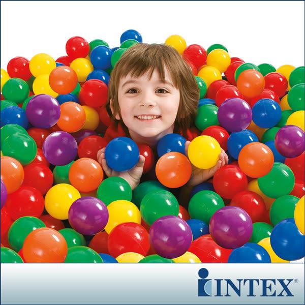 【INTEX】100顆遊戲球-直徑6.5cm LC228(49602)