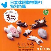 Norns【日本休眠動物園P1特別色篇】T-ARTS扭蛋 ZooZooZoo 睡覺動物 轉蛋 熊貓 之穴 新色