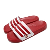 adidas 涼拖鞋 Adilette Shower 紅 白 男鞋 兵工廠 足球系列 運動拖鞋 涼鞋 【ACS】 EG1212