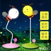 充電蜜蜂小夜燈月子嬰兒寶寶晚上喂奶睡覺用臺燈臥室暖光兒童護眼 js9750『科炫3C』