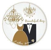 我願意陶瓷吸水杯墊婚禮小物送客禮環保耐熱吸水杯墊伴郎伴娘禮抽獎禮【皇家結婚 】