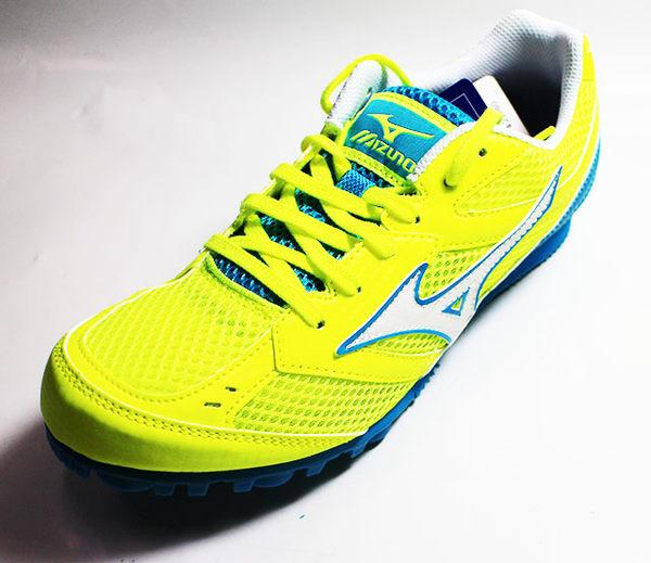 MIZUNO 美津濃TMC SPLIT 3 田徑釘鞋徑賽釘鞋 U1GA149043(黃藍)附鞋)[陽光樂活=]