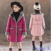胖女孩毛呢外套中長款女童秋裝新款洋氣上衣韓版7歲冬季大童 【毛菇小象】