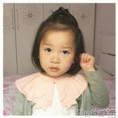 寶寶圍兜 夏薄嬰兒圍嘴花瓣360度可旋轉寶寶圍嘴純棉紗布圍兜假領套裝0-2歲 寶貝計畫
