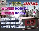 【久大電池】麻聯電機 NF4830 48V 30A 全自動中型電動機械設備專用充電機