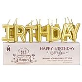 生日派對金屬色生日字母蠟燭(1入)【小三美日】顏色隨機出貨