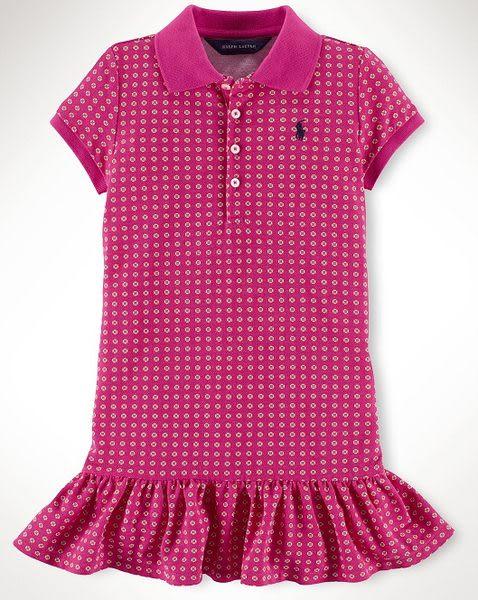 Ralph Lauren Polo洋裝  圓點圖案荷葉裙設計短袖洋裝 4T (Final sale)