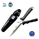 台灣製 IST K-25 不銹鋼 兩用 潛水刀 潛水剪刀  附刀套  橡膠刀帶