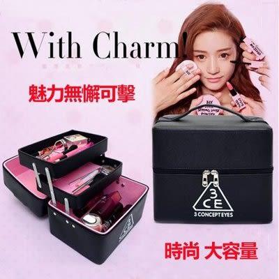 韓國專業化妝品收納包折疊帶隔層【藍星居家】