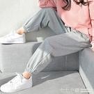 女童衛褲2021春款夏裝兒童純棉灰色運動褲中大童夏季新款休閒褲子