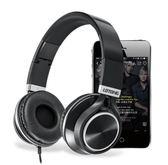 現貨!頭戴式耳機 手機耳機頭戴式電腦耳麥單插筆記本帶麥語音通話重低音潮免運