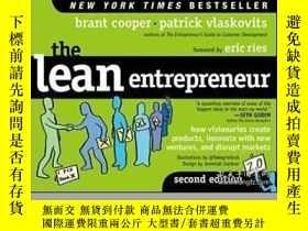 二手書博民逛書店The罕見Lean EntrepreneurY464532 Brant Cooper; Patrick Vla