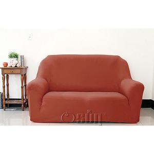 【Osun】素色系列-2人座一體成型防蹣彈性沙發套、沙發罩咖啡