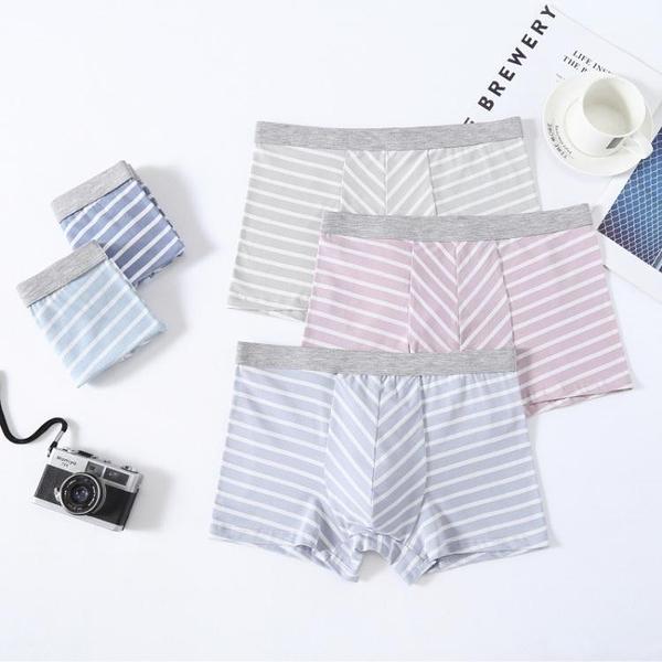 促銷全場五折 純棉青年男士內褲條紋3D無痕四角褲透氣潮流個性寬松大碼平角褲頭