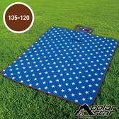 【PolarStar】多功能防潮睡墊/野餐墊/休閒墊/遊戲墊 - 防水PE鋁膜.可機洗 P17708 『璀璨之星』135X120cm