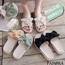PAPORA柔合色系厚底拖鞋KS3458黑/米/黃/綠
