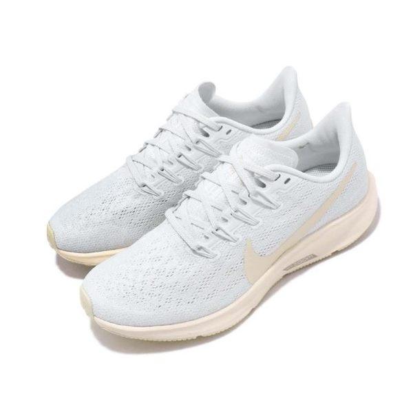 NIKE系列-NIKE AIR ZOOM PEGASUS 36 女款米白運動慢跑鞋-NO.AQ2210400   慢跑鞋  