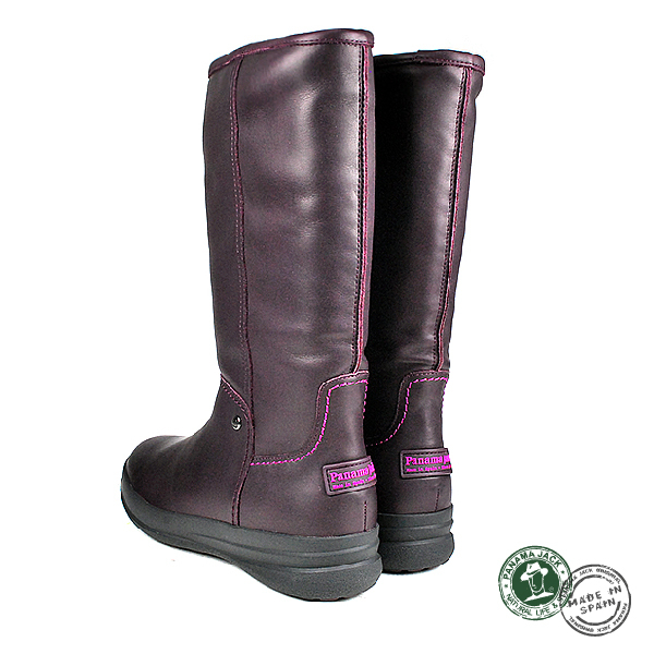 【Panama Jack】真皮毛內裡時尚長靴/女靴/毛靴 深紫色(P7123W-BUR)