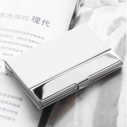 名片夾 男式 商務金屬不銹鋼名片夾創意辦公 刻字 個性名片盒女士 格蘭小舖