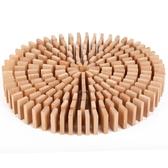 多米諾骨牌兒童益智智力200片櫸木學生機關積木玩具