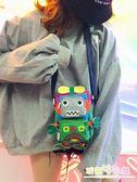 新款小包包日系少女手機包創意卡通機器人蹦迪零錢包斜挎包萌