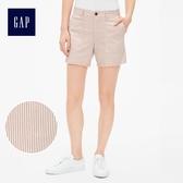 Gap女裝 時尚純色休閒短褲 467828-磚紅色