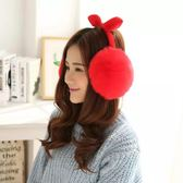 韓版可愛兔耳朵蝴蝶結女士秋冬季保暖耳罩tz6889【3C環球數位館】