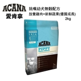ACANA愛肯拿-挑嘴幼犬無穀配方-放養雞肉+新鮮蔬果2KG/4.4LB