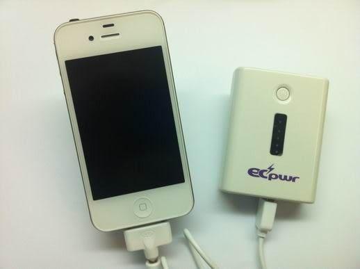 ECPWR IPHONE 5 5000MAH 行動電源+LED白光照明燈(一年保固)