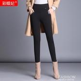 媽媽褲子女秋冬加絨加厚中年外穿女士打底褲長褲大碼高腰女褲冬季