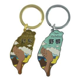 【收藏天地】台灣紀念品*金屬鑰匙圈-野柳女王頭(2入色)