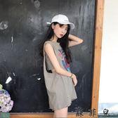 韓版風學生無袖T恤
