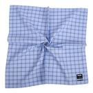 renoma經典格紋男士純綿帕巾(水藍色)989063-245