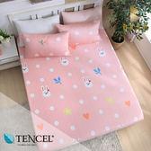 天絲床包三件組 雙人5x6.2尺 可愛精靈 100%頂級天絲 萊賽爾 附正天絲吊牌 BEST寢飾