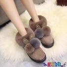 雪地靴 可愛厚底棉鞋女冬季加絨小短靴新款保暖居家毛毛絨雪地靴寶貝計畫 上新