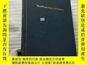 二手書博民逛書店Who sWho罕見in Finance and Industry 24th edition 1985-1986