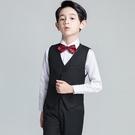 兒童禮服 男童花童男孩演出鋼琴表演馬甲套裝小主持人西裝婚禮春【快速出貨八折鉅惠】
